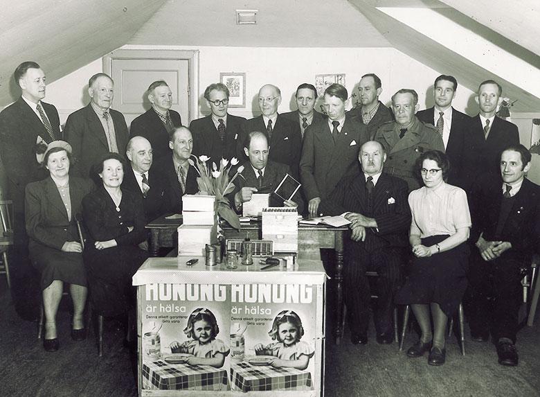 Studiecirkel på 1950-talet i Huddingeortens Biodlareförening